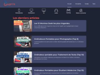 Détails : La Gazette du Geek, webzine dédié à la culture geek