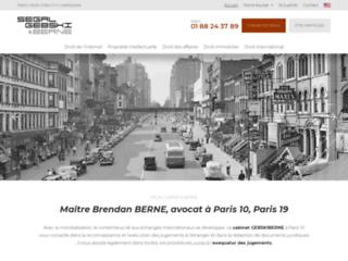 Maître Brendan BERNE, avocat à Paris 10, Paris 19