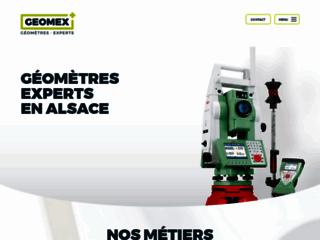 Le site web du géomètre GEOMEX