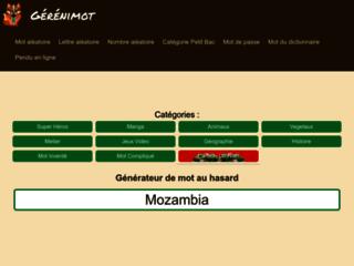 Détails : Gerenimot, générateur de mot aléatoire