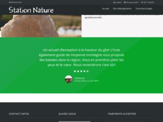 Chambre d'hôtes et location de gite Station Nature dans les Vosges
