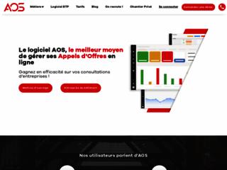 Détails : AOS, logiciel d'appel d'offre