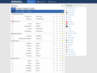 Website's thumnail : Livescore, fixtures and results on GoalooUS