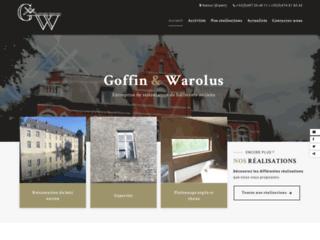 Goffin-Warolus : artisans-maçons en bâtiments anciens
