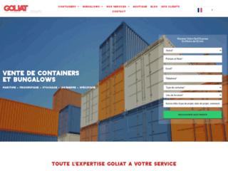 GOLIAT Containers, votre entreprise de location et de vente de containers en France