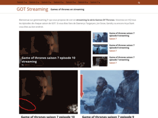 ▷ Games of Thrones Streaming