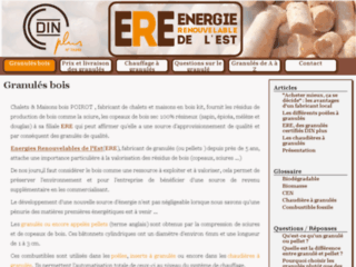 Détails : ERE - Granulés de bois