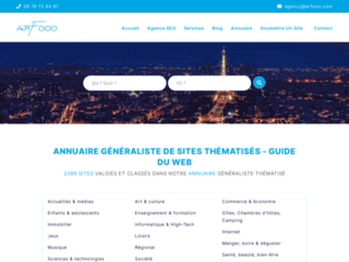 Détails : Annuaire Arfooo, Guide internet