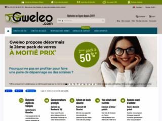 Gweleo, opticien en ligne, lunettes et verres moins chers