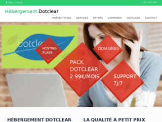 Détails : Hébergement Dotclear, hébergement mutualisé