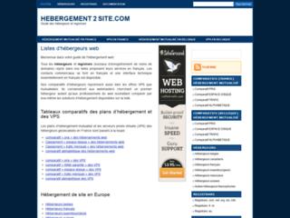 Détails : Hebergement2Site, comparatif hébergement de sites Web