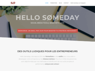 Hello Someday, modules de formations pour les entrepreneurs