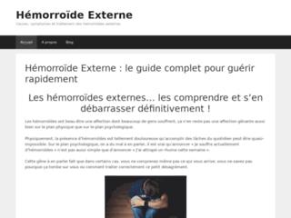 Un site dédié à l'hémorroïde externe