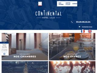 Continental Hôtel à Lille en face de la gare Lille Flandres