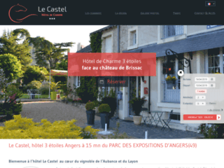 Détails : Hôtel de Charme 3 étoiles Le Castel près d'Angers en Maine et Loire