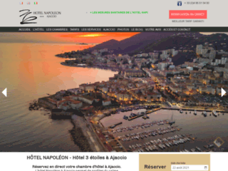 Hôtel Napoléon 3 étoiles à Ajaccio