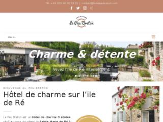 Détails : Hôtel Le Peu Breton, hôtel de charme sur l'ile de ré