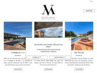 Détails : Hotelversionmaquis.com, un hôtel en plein coeur de Bonifacio