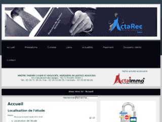 Détails : ACTAREC : Huissiers de justice associés à Rouen. - Accueil