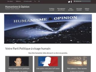 Valeurs humanistes - Politique humaniste - Opinion humaniste