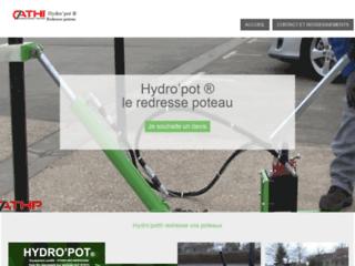 Hydropot, redresse poteaux