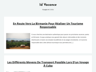 L'info touristique par id vacance