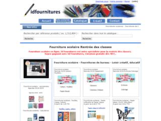 Détails : Idfournitures : Fournitures scolaires, fournitures de bureau, loisirs créatifs