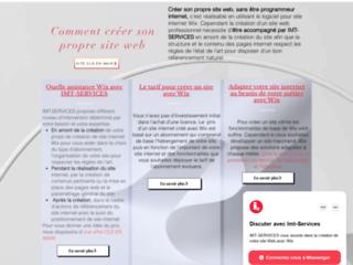 Aide à la création de sites web avec Wix