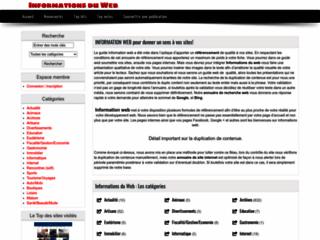 Détails : L'informations web