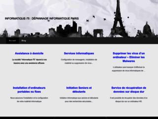 Informatique-75 : Dépannage informatique à Paris - Assistance PC à domicile