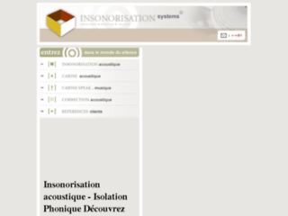 Insonorisation Systems, solutions d'insonorisation et isolation phonique