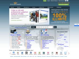 Détails : InstanceWeb, création et hébergement de site Web