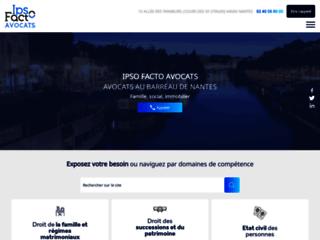 Détails : Ipso Facto Avocats, avocat droit des victimes à Nantes