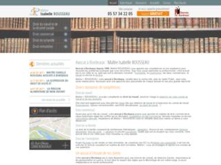 Détails : Me Isabelle Rousseau, avocat en droit du travail à Bordeaux