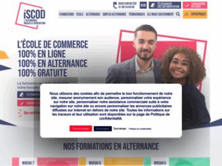 Détails : iSCOD : L'école de commerce 100% en ligne, 100% en alternance