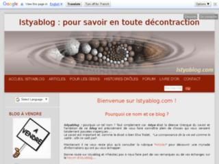 Istyablog : pour savoir en toute décontraction