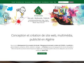 Détails : iX Services, conception de site web en Algérie
