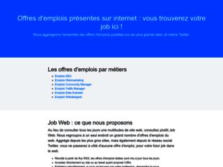 Job Web : aggrégateur d'offre d'emploi du web