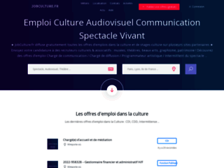 Détails : JobCulture - Emploi de profils culturels