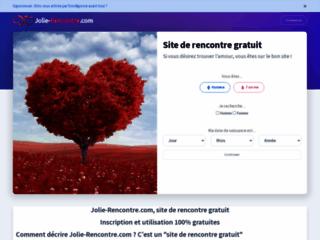 Détails : Jolie-Rencontre.com : le site de rencontre gratuit et sérieux pour les célibataires