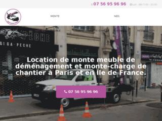 Location de monte-meubles et monte-charges à Paris et en Île de France.