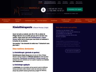 Philipe Mareels, kinésithérapeute à Liège