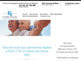 Aide à domicile aux personnes âgées par Kleber Seniors