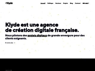 Klyde - Création de site internet à partir de 29.90 euros par mois