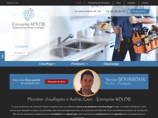 Entreprise Kolob : plombier chauffagiste à Authie, Caen