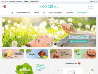 KOSMÉAL - Venez découvrir nos produits BIO et naturels pour la peau et le bien-être