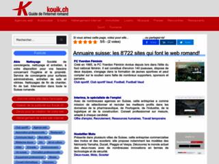 Détails : Annuaire internet de Suisse romande
