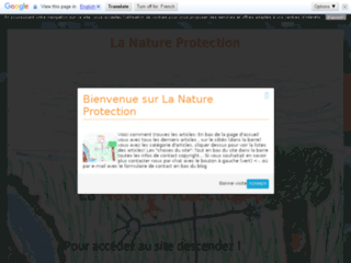 La nature protection