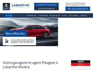 Détails : Labarthe Automobiles, carrosserie et vente de voitures neuves et occasions à Labarthe Rivière