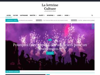 Détails : La lettrine culture votre magazine littéraire